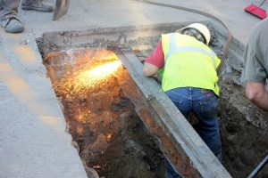 Sewer reline-Congress St Portland Maine